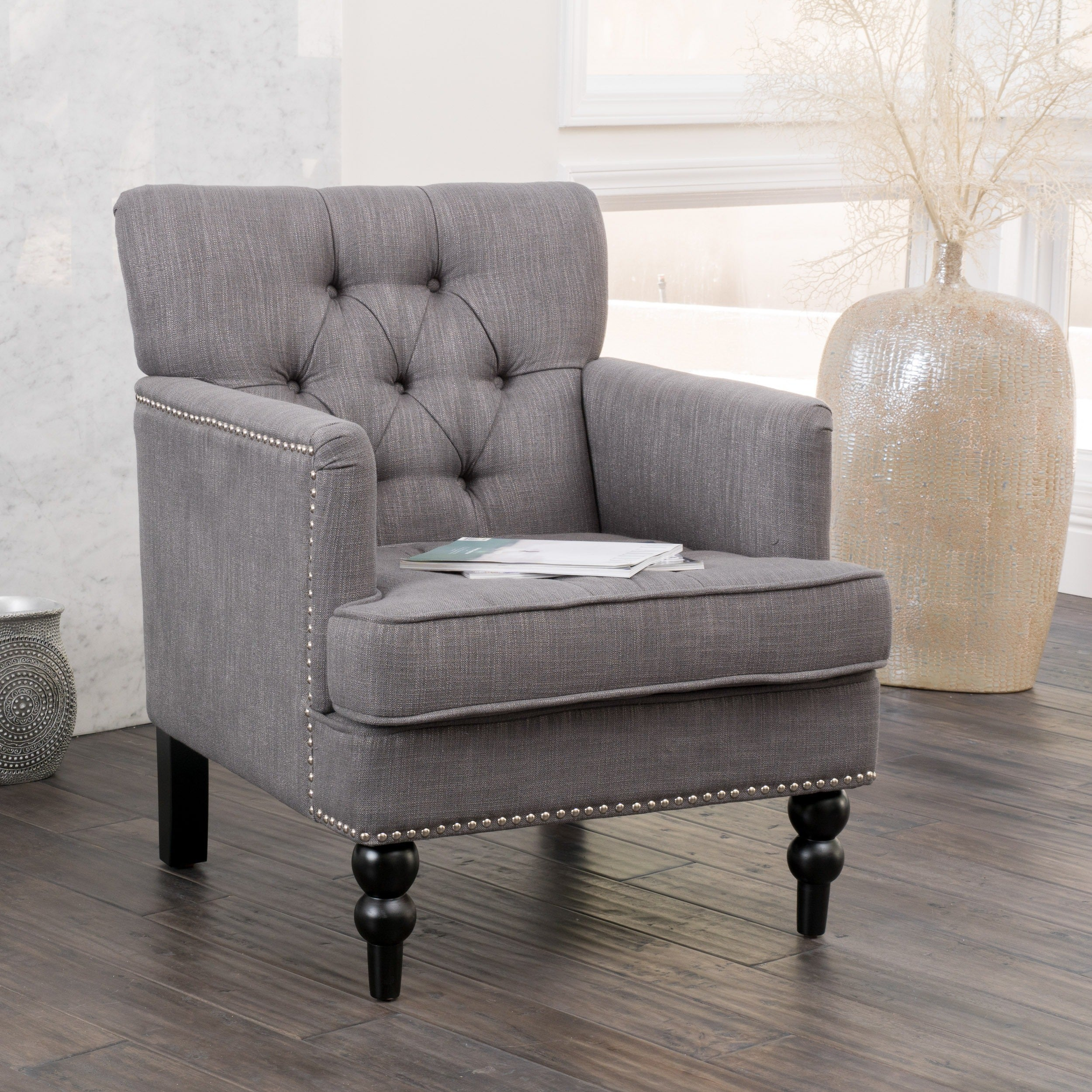 Furniture Overstock Com: Christopher Knight Home Malone Charcoal Grey Club Chair