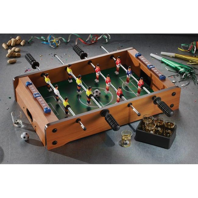 Game Night Tabletop Foosball Shot Glass Set