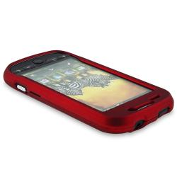 Red Rubber Coated Case/ Protector/ Charger for T-Mobile HTC MyTouch 4G