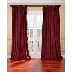 Burgundy Velvet Blackout Extra Wide Curtain Panel