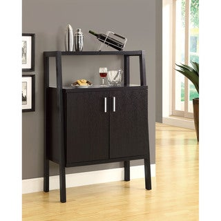 Cappuccino 48-inch Bar Unit With Bottle and Glass Storage
