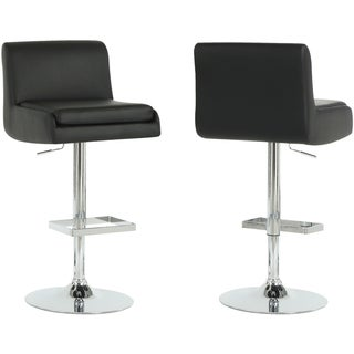 Black/ Chrome Metal Hydraulic Lift Barstools (Set of 2)