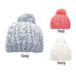 Leisureland Hand-crocheted Women's Acrylic Beanie Hat