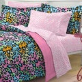 Neon Leopard 7-piece Bed in a Bag with Sheet Set