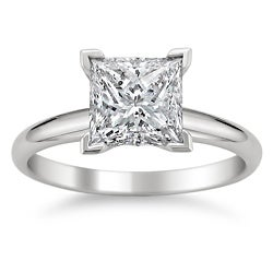 14k White Gold 1 1/2ct TDW Diamond Solitaire Engagement Ring (G-H, SI1-SI2)
