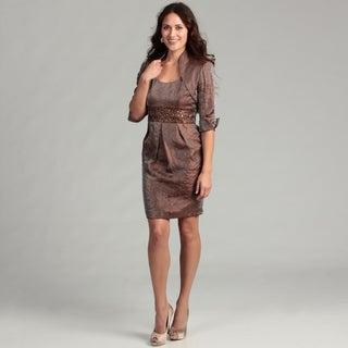 Jessica Howard Women's Almond Beaded 2-piece Dress FINAL SALE
