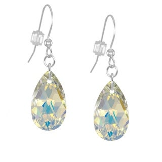 Jewelry by Dawn Sterling Silver Crystal AB Pear Earrings
