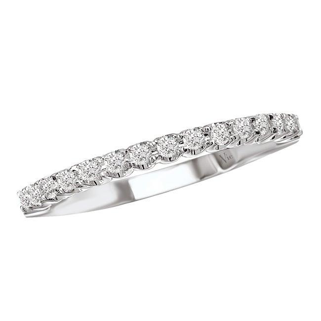 Avanti 14k White Gold Women's 1/4ct TDW Diamond Wedding Band Size 6 (G-H, SI1-SI2)