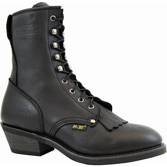 AdTec by Beston Men's Black Leather Packer Boots