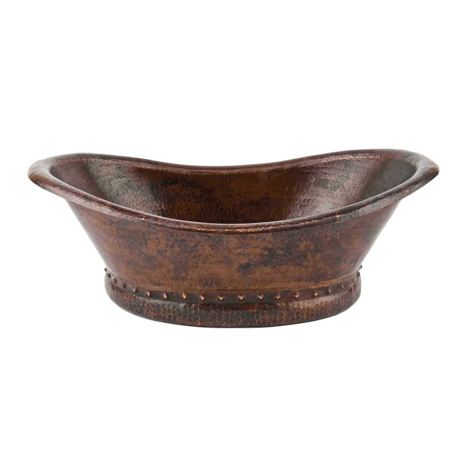 Bath Tub Vessel Hammered Copper Sink