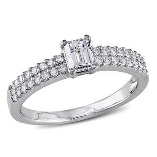Miadora 14k White Gold 3/4ct TDW Diamond Engagement Ring (G-H, I1-I2)