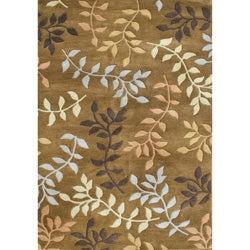 Alliyah Handmade Inca Gold New Zealand Blend Wool Rug (8' x 10')