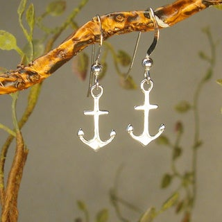 Jewelry by Dawn Sterling Silver Small Anchor Earrings