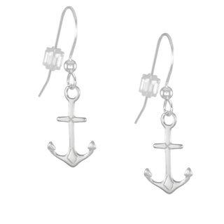 Jewelry by Dawn Anchor Handmade Sterling Silver Drop Earrings