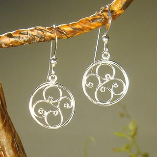 Jewelry by Dawn Round Filigree Sterling Silver Earrings