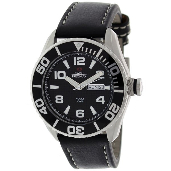 Swiss Precimax Men's Executive Leather Watch