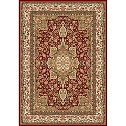 Contemporary Red Heat-Set Rug (7'8 x 10'4)