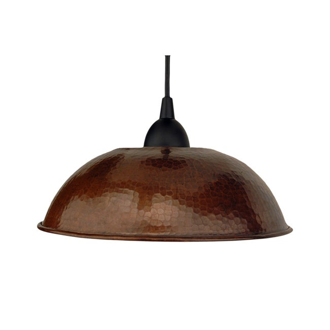 Hand Hammered Copper 10.5-Inch Dome Pendant Light (Mexico)