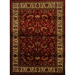 Contemporary Red-Ivory Heat-Set Rug (7'8 x 10'4)