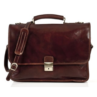Alberto Bellucci Torino Italian Leather Briefcase