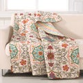 Esprit Art Deco Daisy-chain Print 100-percent Woven Cotton Quilted Throw