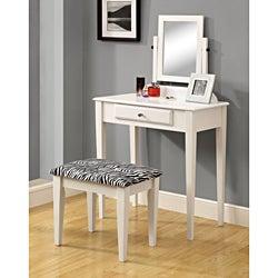 White Two-piece Vanity Set