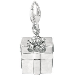Sterling Silver Gift Box Charm