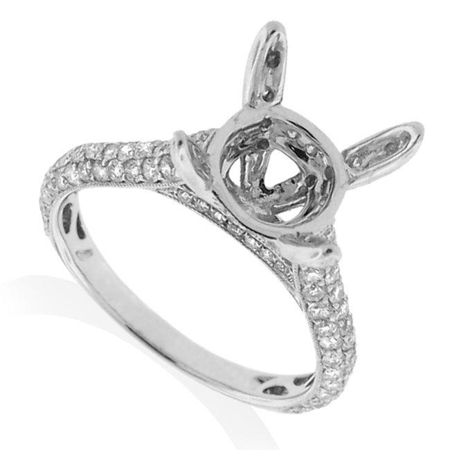 14kt White Gold 1ct TDW Diamond Engagement Ring