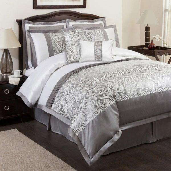 Lush Decor Gray Urban Savanna 8-piece Comforter Set
