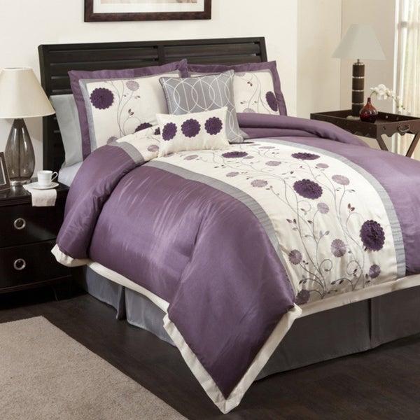 Lush Decor Purple/Gray Juliana 6-piece Comforter Set