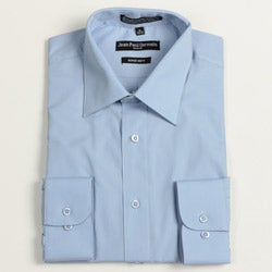 Jean Paul Germain Men's Medium Blue Convertible Cuff Dress Shirt
