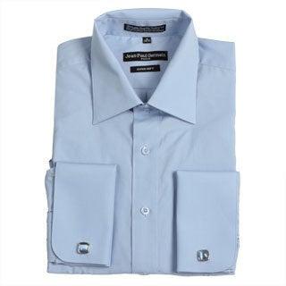 Jean Paul Germain Men's Medium Blue French Cuff Dress Shirt
