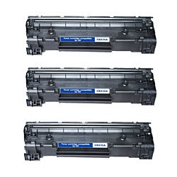 HP CB435A Compatible Black Toner Cartridges (Pack of 3)