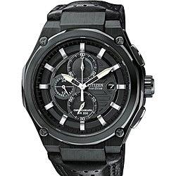 Citizen Men's Eco-Drive Black Sport Chronograph Watch