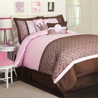 Lush Decor Brown/Pink Leopard 6-piece Comforter Set