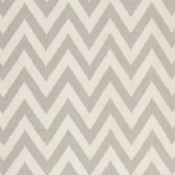 Safavieh Hand-woven Moroccan Reversible Dhurrie Chevron Grey/ Ivory Wool Rug (8' x 10')