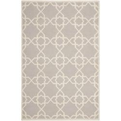 Safavieh Handwoven Moroccan Reversible Dhurrie Grey/ Ivory Wool Area Rug (8' x 10')