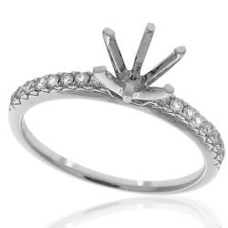 14k Gold 1/6ct TDW Semi-mount Diamond Ring (G-H, SI1-SI2)