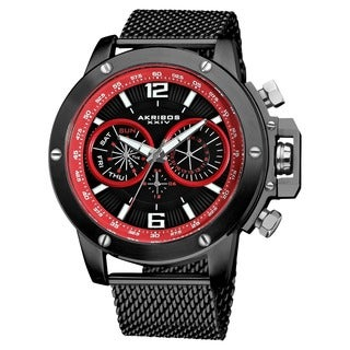 Akribos XXIV Men's Mesh Bracelet Multifunction Watch