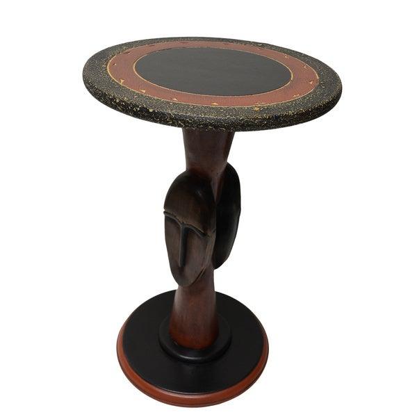 Hand-Carved Tribal Companion Table (Ghana)