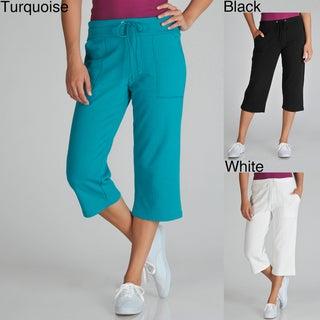 Central Park Women's Drawstring Capri Lounge Pants