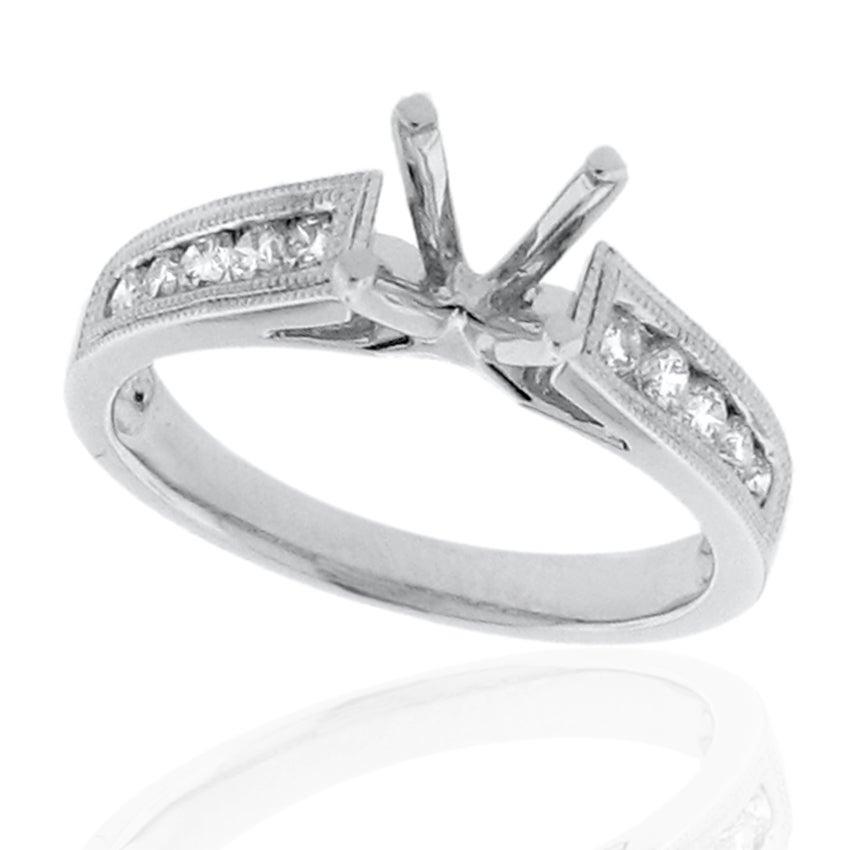 14k White Gold 1/3ct TDW Diamond Round Engagement Ring (G-H, SI-1/SI-2)