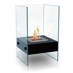 Hudson Indoor/ Outdoor Floor Standing Ethanol Fireplace
