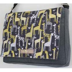 Two Tree Designs Handmade Medium I Heart Giraffes Messenger Bag