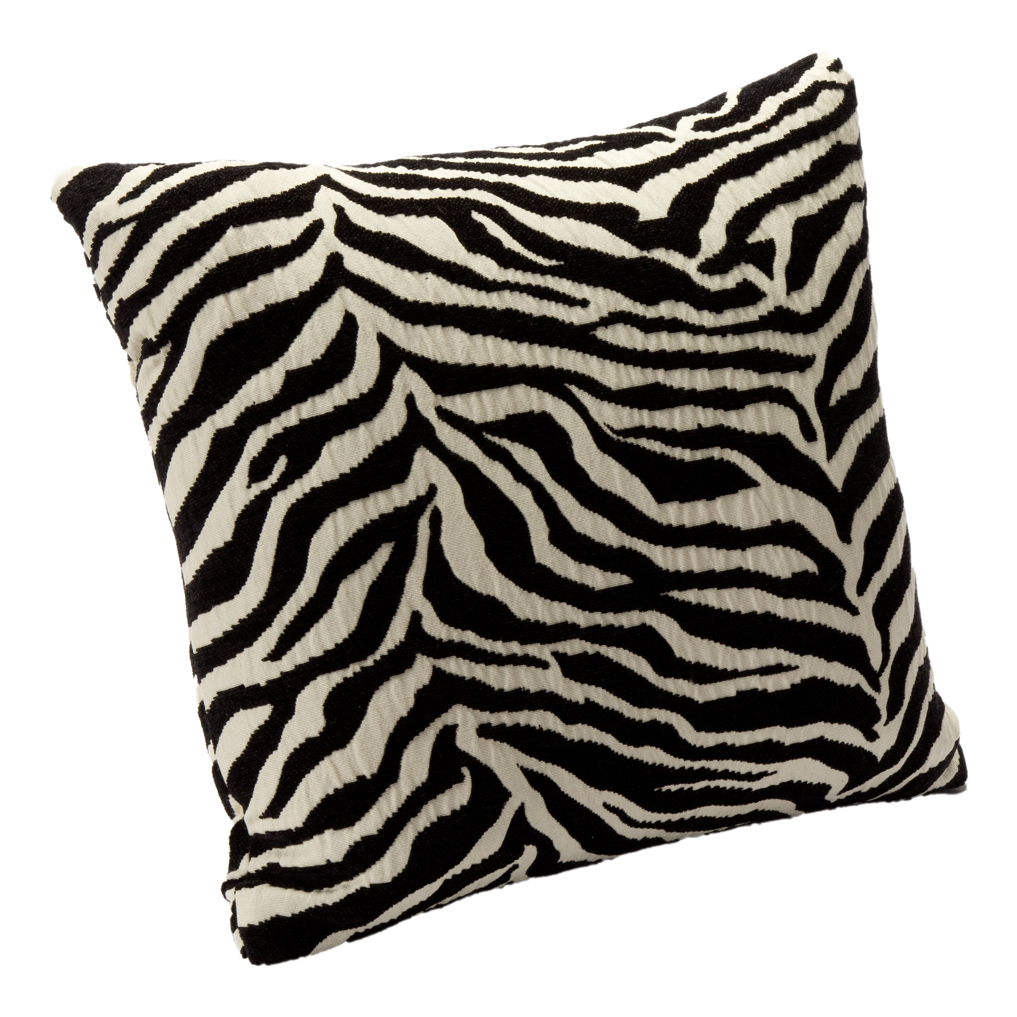 Wild Zebra Black Accent Pillow
