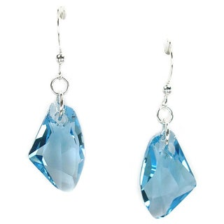 Jewelry by Dawn Aquamarine Crystal Galactic Sterling Silver Earrings
