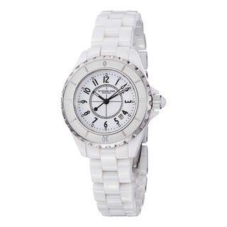 Stuhrling Original Women's Glamor Ceramic Bracelet Watch