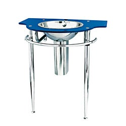 Blue Stainless Steel Wall Mounted Sink