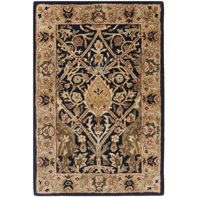 Safavieh Handmade Persian Legend Blue/ Gold Wool Rug (2' x 3')