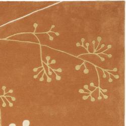Safavieh Handmade Vine Rust New Zealand Wool Rug (5'x 8')